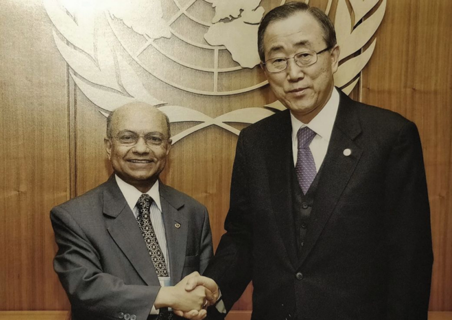 With UN SG Ban Ki-moon 2007