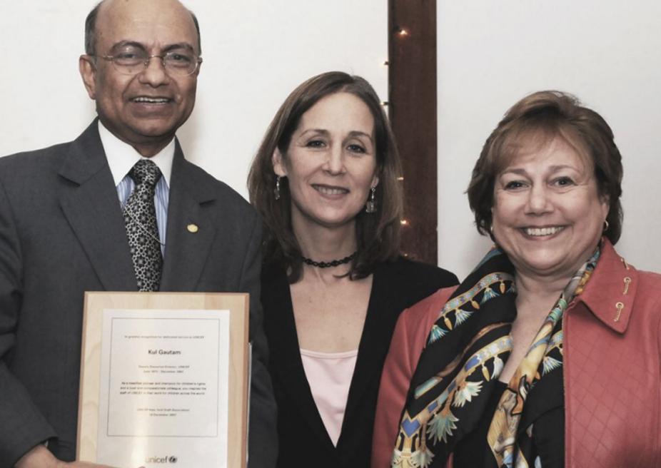 My farewell with UNICEF Director Ann Veneman and colleague Liza Barrie, December 2007