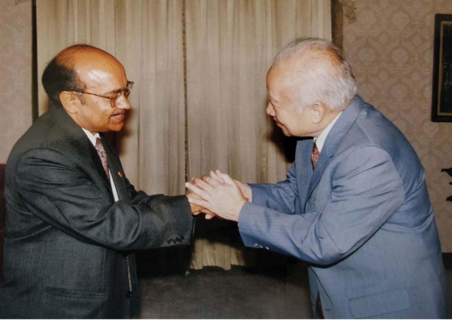 With King Sihanouk of Cambodia