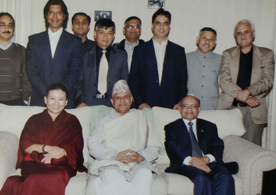 With Nepali celebrities leading 'End Violence Campaign with President Ram Baran Yadav