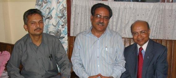 Kul with Prachanda and Baburam