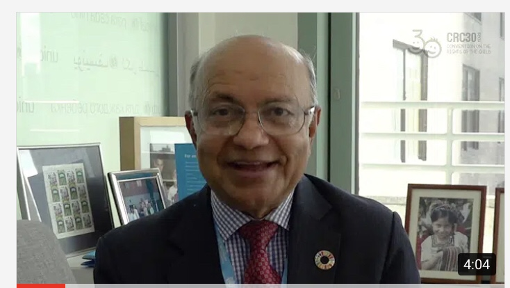 Kul Gautam's interview at CRC@30 at UNICEF- Full interview