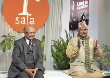 Kul with ex Nepalese President Ram Baran Yadav