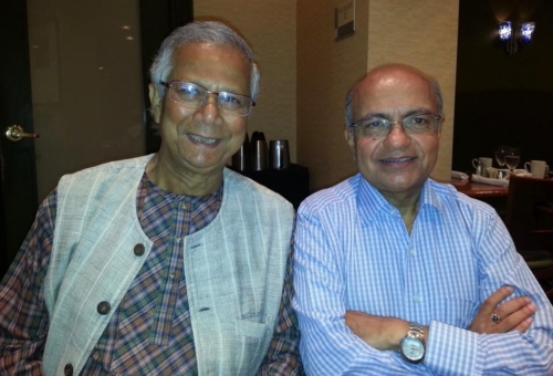 Kul Gautam with Fellow Board member of RESULTS.org Nobel Peace Prize winner Muhammad Yunus - July 2013 in Washington DC — with Muhammad Yunus.