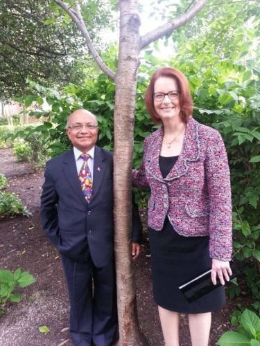 Kul with former Australian Prime Minister and Chair of Global Partnership for Education Julia Gillard in June 2014 in Washington DC