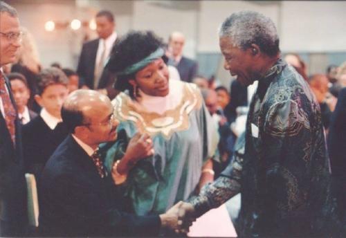 Kul with Nelson Mandela