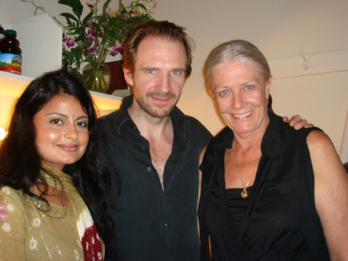 Jyotsna with Ralph Fiennes and Vanessa Redgrave