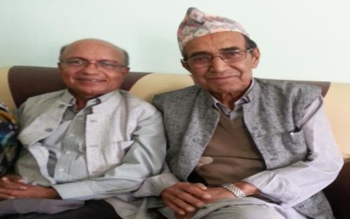 Kul with Uncle Babu Ram Aryal