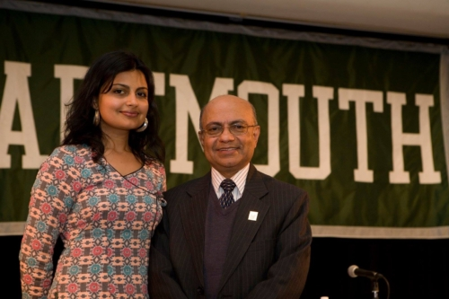 Kul with daghter Jyotsna at Dartmouth