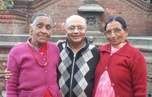 Kul with loving Aunties
