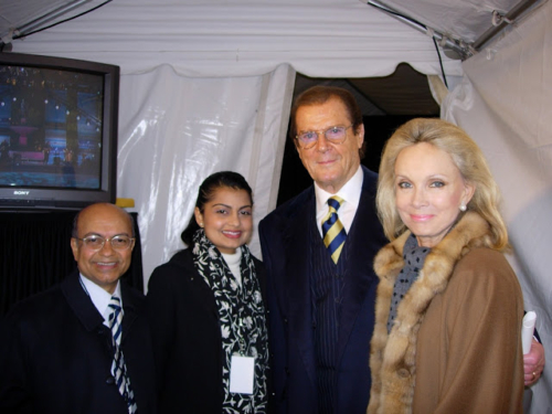 With Jyotsna, Roger Moor and  Kristina